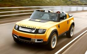 Картинка дорога, желтый, холмы, спорт, concept, джип, внедорожник