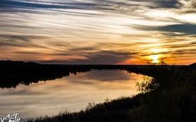 Картинка закат, природа, река, Владимир Смит, Vladimir Smith, Калуга, Kaluga