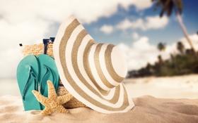 Картинка песок, пляж, лето