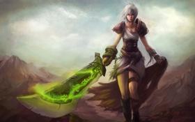 Картинка девушка, фентези, оружие