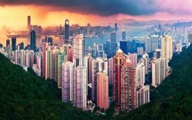 Обои город, Hong Kong, КНР, China, Гонконг, Азия, Китай