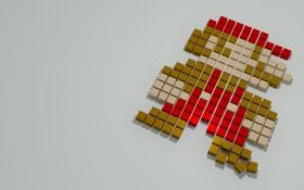 Картинка марио, пиксели, game, super mario, pixel boxes