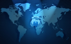 Картинка анонимус, хакеры, Anonymous, карта