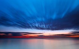 Обои облака, восход, океан, утро, ocean, clouds, morning