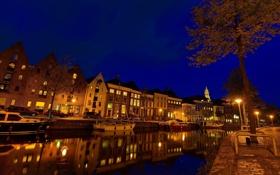 Обои ночь, Нидерланды, night, Nederland, Groningen, Гронинген
