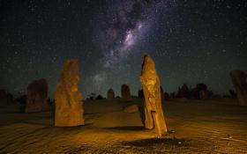 Картинка космос, звезды, ночь, Австралия, млечный путь, бесконечность