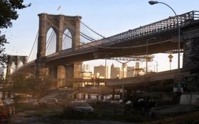 Обои мост, нью-йорк, постапокалипсис, карантин
