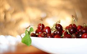 Картинка макро, вишня, ягоды