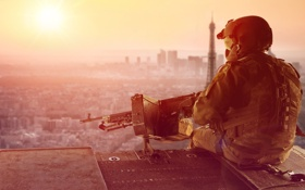 Картинка Париж, Солдат, Оружие