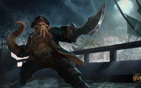 Обои осьминог, пират, щупальце, Heroes of Newerth, Devourer, Keelhaul Devourer