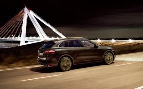 Картинка Porsche, Night, Cayenne Turbo