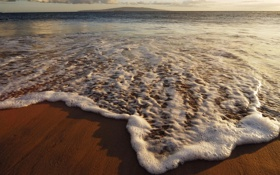 Картинка песок, море, берег, волна