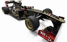 Обои черный, формула 1, суперкар, болид, автомобиль, renault, lotus