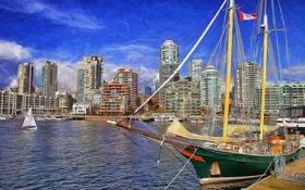 Обои пристань, яхты, порт, Канада, Ванкувер, Canada, Vancouver