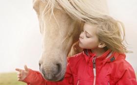 Картинка настроение, конь, девочка