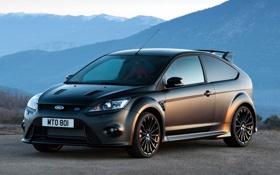 Картинка горы, чёрный, Ford, матовый, Focus, RS500