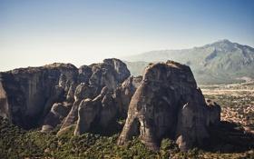 Обои камни, скалы, meteora