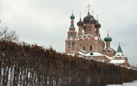 Обои храм, православие, Церковь Живоначальной Троицы