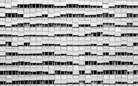 Картинка город, дом, окна