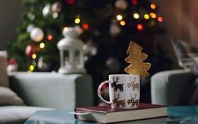 Обои праздник, кружка, олени
