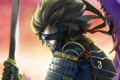Картинка меч, арт, самурай, повязка, броня, парень, Raiden