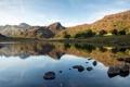 Картинка лето, пейзаж, горы, природа, озеро