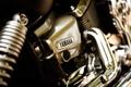 Картинка макро, двигатель, мотоцикл, хром, yamaha, bike, мотор