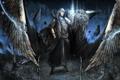 Картинка птица, магия, крылья, арт, парень, плащ