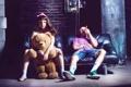 Картинка девушка, медведь, сигара, парень, COSMOSTARS, T-SHIRT
