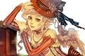 Картинка девушка, шляпа, арт, белый фон, razuri-chan
