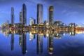 Картинка Australia, Мельбурн, здания, Австралия, ночной город, небоскрёбы, Melbourne