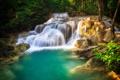 Картинка поток, лес, река, деревья, водопад