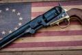 Картинка фон, ствол, револьвер, оружие