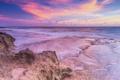 Картинка море, небо, облака, пейзаж, скалы, рассвет, утро