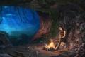 Картинка ночь, черепа, Tomb Raider, крофт, лара, скилеты