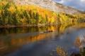 Картинка природа, горы, река, осень