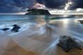 Картинка море, волны, пляж, небо, вода, облака, океан
