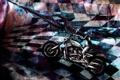 Картинка девушка, оружие, аниме, арт, мотоцикл, black rock shooter, стрелок с черной скалы