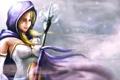 Картинка взгляд, девушка, посох, кристалка, dota 2, crystal maiden