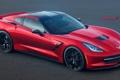 Картинка красный, Corvette, Chevrolet, red, шевроле, front, Jackdarton