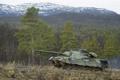 Картинка природа, Норвегия, танк, бронетехника, Leopard 1