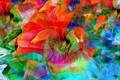 Картинка цветок, линии, рендеринг, краски, лепестки