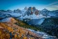 Картинка снег, горы, природа, озеро, British Columbia, alberta, Assiniboine Provincial Park