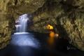 Картинка пещера, Шотландия, скалы, вода, свет, Durness, Smoo Cave