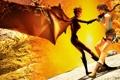 Картинка бой, Lara Croft, Jacqueline Natla, Tomb Raider: Anniversary