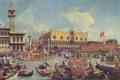 Картинка люди, картина, лодки, венеция, venice, дворец дожей, антонио каналетто