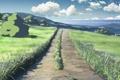 Картинка дорога, аниме, 5 сантиметров в секунду