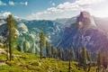 Картинка снег, деревья, горы, природа, Калифорния, США, Yosemite National Park