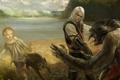 Картинка волк, the witcher, ведьмак, Геральт, Альвин, Яга