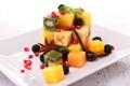 Картинка ягоды, апельсин, киви, фрукты, манго, банан, ежевика